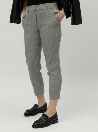 Šedé vzorované zkrácené kalhoty Dorothy Perkins
