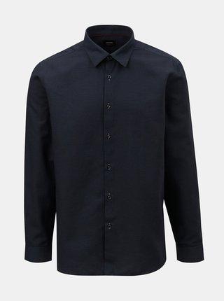 Camasa formala albastru inchis cu model Burton Menswear London