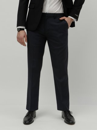 Pantaloni formali albastru inchis tailored fit Burton Menswear London