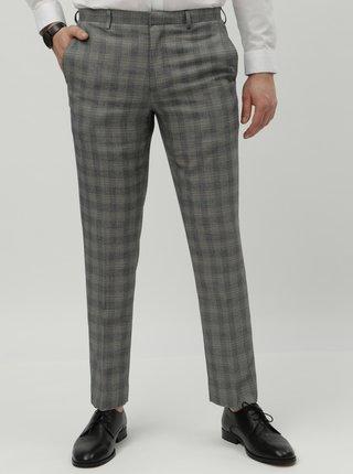 Pantaloni formali gri in carouri slim fit Burton Menswear London