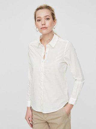 Krémová košeľa s dlhým rukávom VERO MODA Eia