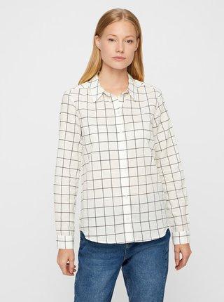 Čierno-biela kockovaná košeľa VERO MODA