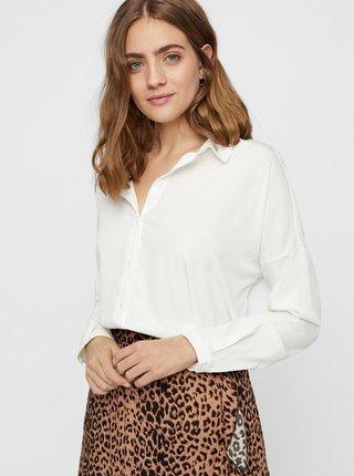 Biela voľná košeľa s dlhým rukávom VERO MODA AWARE Fabulous