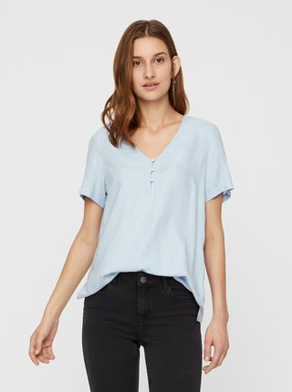 Bluza albastru deschis cu model VERO MODA