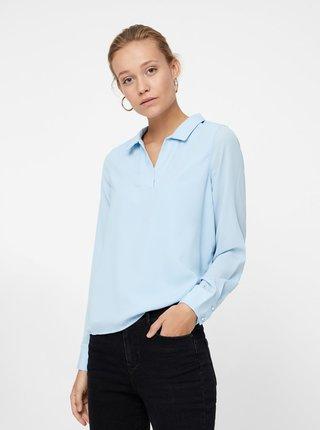 Bluza albastru deschis cu guler VERO MODA