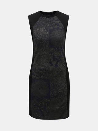 Čierne puzdrové vzorované šaty Desigual Corinto