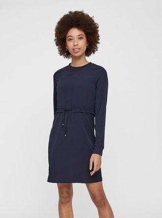 Tmavomodré šaty so sťahovaním v páse Noisy May Monty