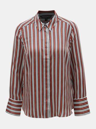 Bielo–oranžová pruhovaná košeľa Dorothy Perkins