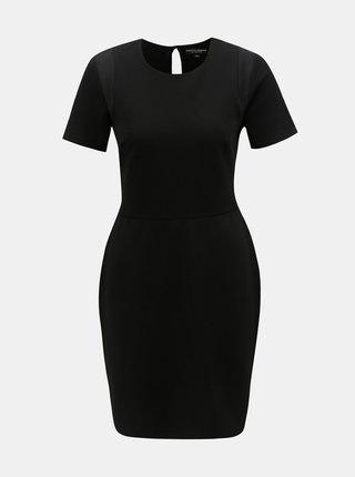 Čierne šaty s priesvitnými detailmi Dorothy Perkins
