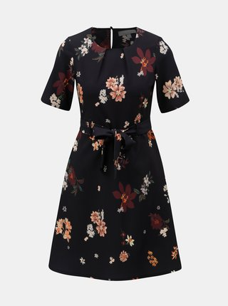 9a27aeb7d9 Tmavomodré kvetované šaty Dorothy Perkins Petite