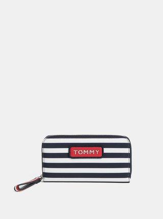 Bílo-modrá pruhovaná peněženka Tommy Hilfiger