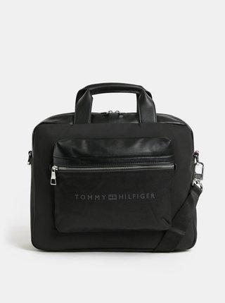 Čierna pánska taška na notebook s odnímateľným popruhom Tommy Hilfiger