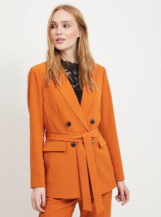 Sacou oranj cu cordon textil VILA Vitora