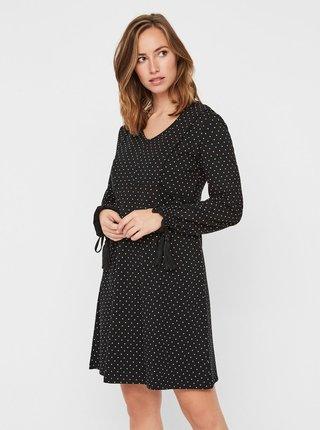 Černé vzorované kojicí šaty Mama.licious