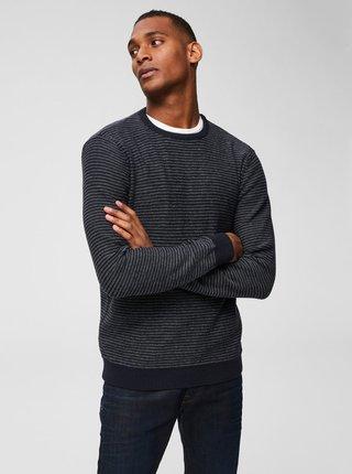 Krémovo–modrý sveter Selected Homme Andrew