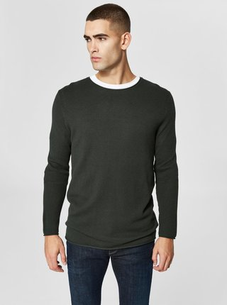 Pulover verde inchis Selected Homme Rocky