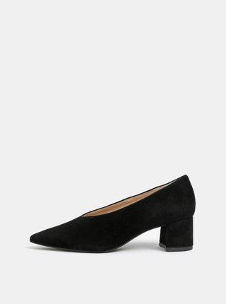 Pantofi negri din piele intoarsa Högl