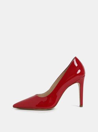 Pantofi rosii din piele naturala cu toc cui Högl