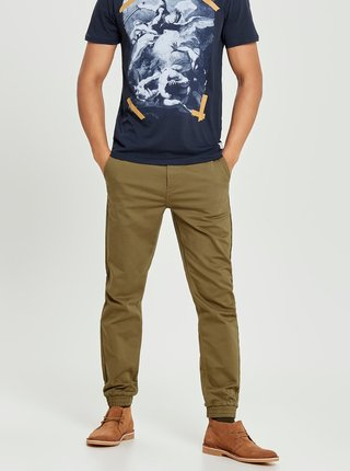 Hnědé anti fit chino kalhoty ONLY & SONS