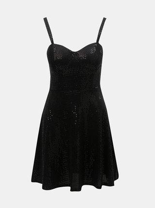 Čierne šaty na ramienka TALLY WEiJL