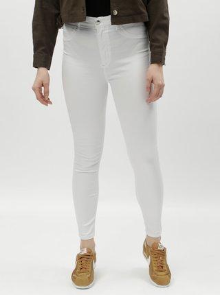 Bílé skinny džíny s push-up efektem a vysokým pasem TALLY WEiJL