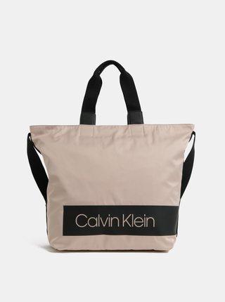 Světle růžová velká kabelka Calvin Klein Jeans