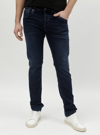 Blugi barbatesti albastru inchis regular din denim Pepe Jeans