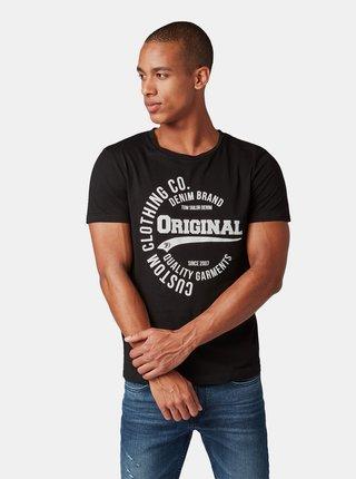 Černé pánské tričko s potiskem Tom Tailor Denim