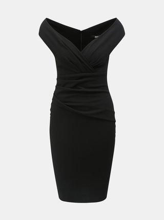 Čierne puzdrové šaty s riasením ZOOT