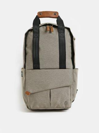 Svetlohnedý nepremokavý batoh s vnútornou taškou na notebook 2v1 PKG 12 l