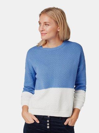 Bielo–modrý dámsky sveter Tom Tailor