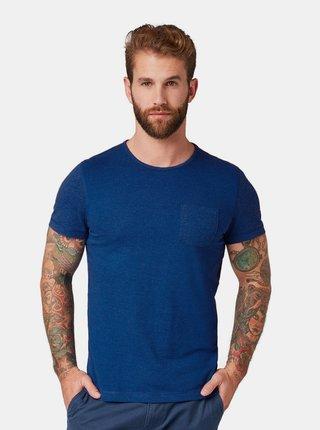 Tricou barbatesc albastru cu buzunar Tom Tailor