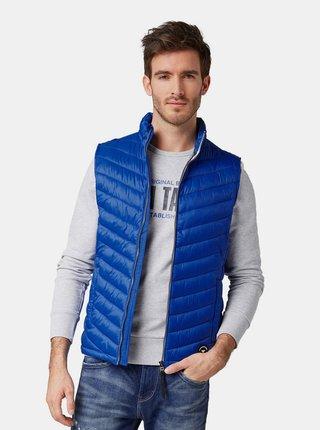 Modrá pánská prošívaná vesta Tom Tailor
