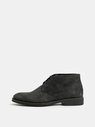 Tmavě šedé pánské semišové kotníkové boty Vagabond Roy