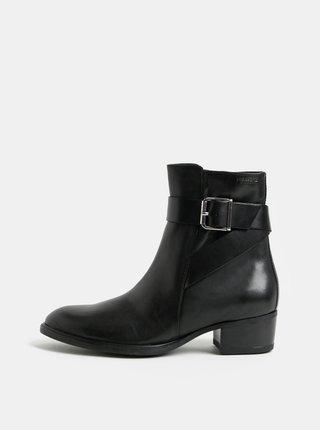 Čierne dámske kožené členkové topánky Vagabond Meja