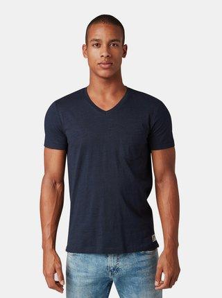 Tmavě modré pánské basic tričko s náprsní kapsou Tom Tailor Denim