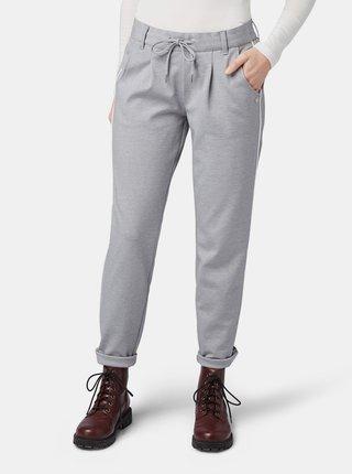 Světle šedé dámské kalhoty Tom Tailor Denim