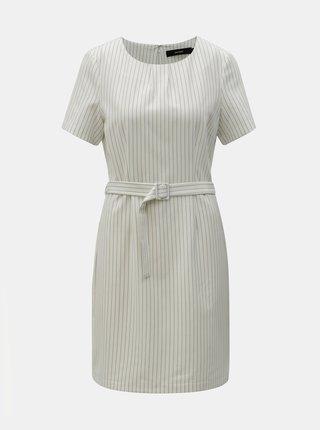 Biele pruhované šaty s opaskom VERO MODA Helena