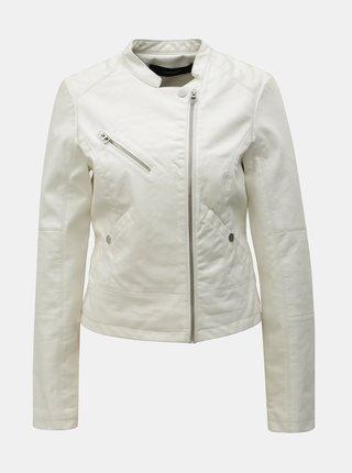 Biela koženková bunda VERO MODA Nora