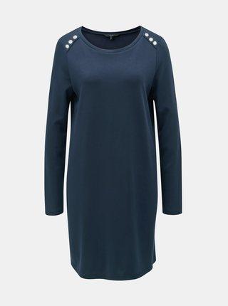 Tmavě modré šaty s dlouhým rukávem VERO MODA Tonja