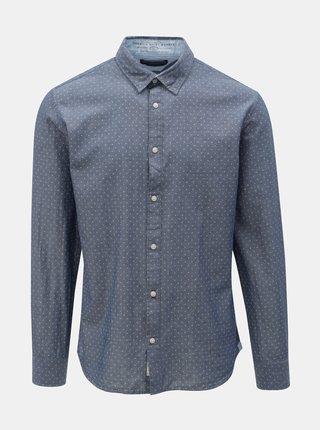 Modrá vzorovaná slim fit košile Jack & Jones Jason