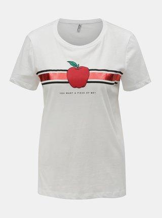 Biele tričko s potlačou ONLY Kita