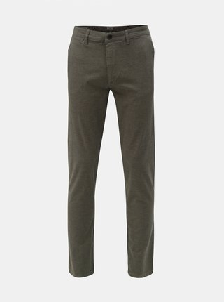 Sivé slim fit chino nohavice Jack & Jones Marco