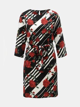 Červeno–čierne vzorované šaty s odnímateľným opaskom Dorothy Perkins