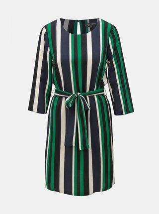 Bielo–zelené pruhované šaty Dorothy Perkins