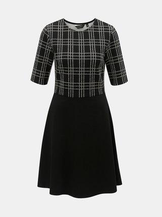 Rochie alb-negru in carouri cu maneci scurte Dorothy Perkins