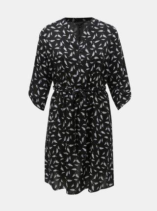 Rochie neagra cu motiv pene Billie & Blossom Curve