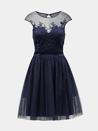 Rochie albastru inchis cu broderie Dorothy Perkins