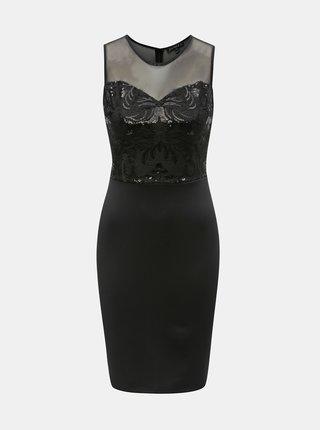 Černé pouzdrové šaty s flitry Scarlett B