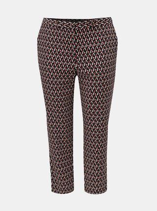 Pantaloni rosu-albastru pana la glezne cu model Dorothy Perkins Curve